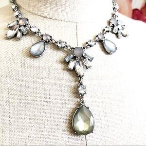 LOFT Jewelry - LOFT Crystal Pearlized Gemstone Y Necklace NWT $40